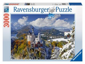 Schloß Neuschwanstein im Winter. Puzzle 3000 Teile
