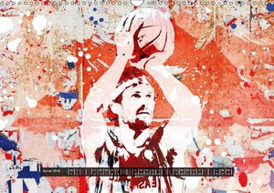Basket et art urbain (Calendrier mural 2018 DIN A3 horizontal)