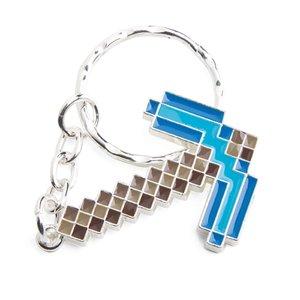 Minecraft Diamond Pickaxe Schlüsselanhänger, Keychain, Metall