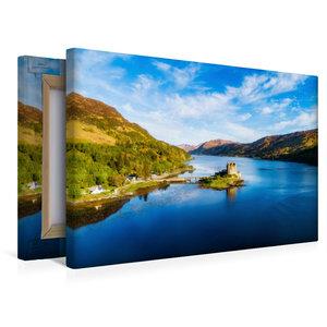Premium Textil-Leinwand 45 cm x 30 cm quer Eilean Donan Castle