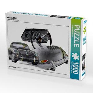 Porsche 356 C 1000 Teile Puzzle quer