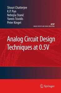 Analog Circuit Design Techniques at 0.5V
