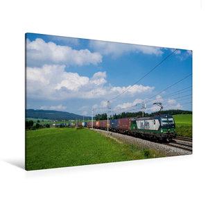 Premium Textil-Leinwand 120 cm x 80 cm quer Siemens-Vectron im F