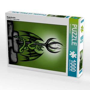 Magiedrache 1000 Teile Puzzle hoch