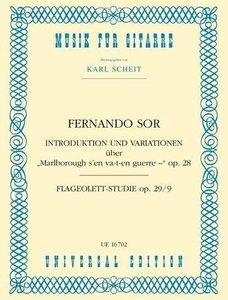 """Introduktion und Variationen über \""""Malborough s\'en va-t-en gue"""