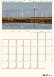 Windkraft in der Landschaft Ostfrieslands / Terminplaner