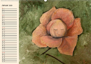 Phantastische Blüten, Gemälde in Öl und Acryl