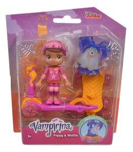 Simba 109422262 - Disney, Vampirina Roller mit Pooy & Wolfie, Sp