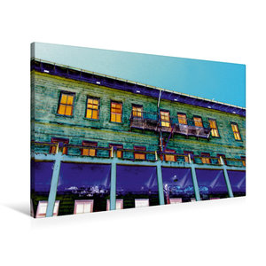 Premium Textil-Leinwand 90 cm x 60 cm quer Außenansicht Gebäude
