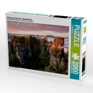 CALVENDO Puzzle Sächsische Schweiz - Basteibrücke 2000 Teile Leg