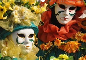 Venedigs Masken (Posterbuch DIN A4 quer)