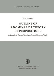 Outline of a Nominalist Theory of Propositions