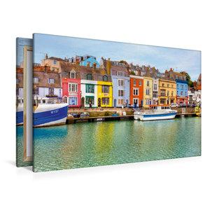 Premium Textil-Leinwand 120 cm x 80 cm quer Hafen von Weymouth
