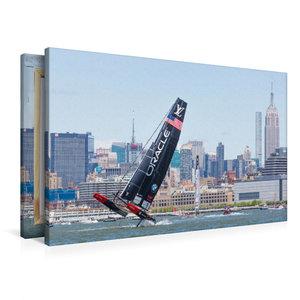 Premium Textil-Leinwand 90 cm x 60 cm quer AC45f, America\'s Cup