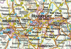 Übersichtskarte Deutschland 1:750000. Wandkarte plano