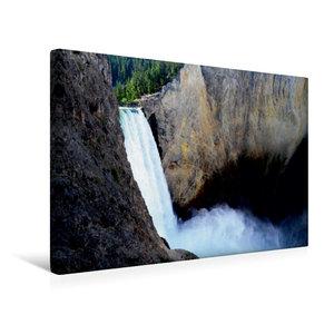 Premium Textil-Leinwand 45 cm x 30 cm quer Der Yellowstone Wasse