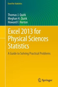 Excel 2013 for Physical Sciences Statistics