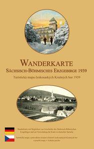 Wanderkarte vom Sächsisch-Böhmischen Erzgebirge 1939