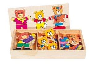 Anziehpuppenpuzzle Bärenfamilie