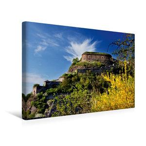 Premium Textil-Leinwand 45 cm x 30 cm quer Festung Ehrenbreitste