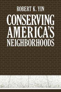 Conserving America's Neighborhoods