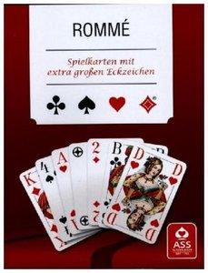 Rommé (Spielkarten), Club, Französisches Bild, extra große Eckze