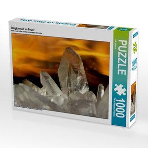 Bergkristall im Feuer 1000 Teile Puzzle quer