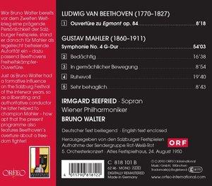 Sinfonie 4 G-Dur,Egmont Ouvertüre