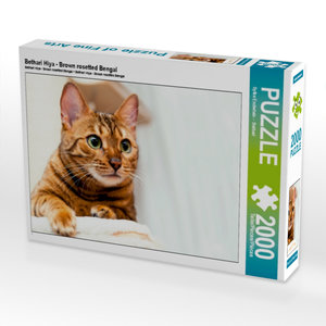 Bethari Hiya - Brown rosetted Bengal 2000 Teile Puzzle quer