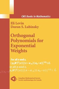 Orthogonal Polynomials for Exponential Weights