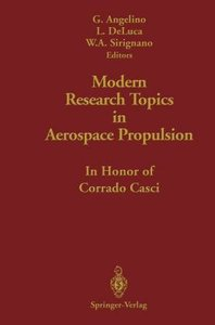 Modern Research Topics in Aerospace Propulsion