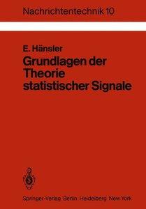 Grundlagen der Theorie statistischer Signale