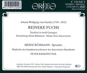 Reineke Fuchs-Tierfabel in zwölf Gesängen