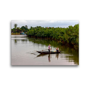 Premium Textil-Leinwand 45 cm x 30 cm quer Fischfang auf dem Thu