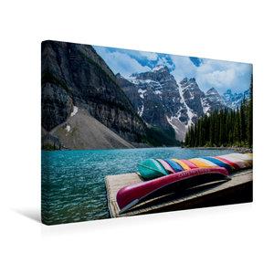 Premium Textil-Leinwand 45 cm x 30 cm quer Moraine Lake