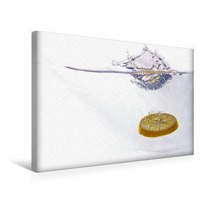 Premium Textil-Leinwand 45 cm x 30 cm quer Zitrone