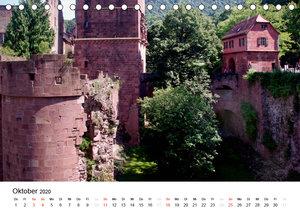 Festes Schloss Heidelberg (Tischkalender 2020 DIN A5 quer)