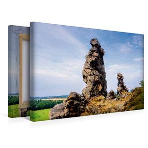 Premium Textil-Leinwand 45 cm x 30 cm quer Teufelsmauer