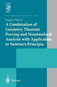 A Combination of Geometry Theorem Proving and Nonstandard Analys
