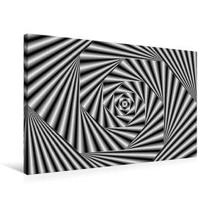 Premium Textil-Leinwand 75 cm x 50 cm quer Zebra-Illusion