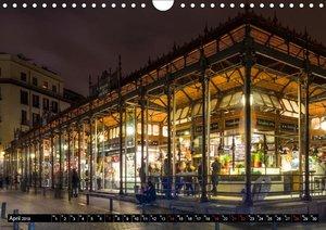 Madrid bei Nacht (Wandkalender 2019 DIN A4 quer)