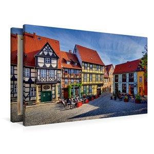 Premium Textil-Leinwand 90 cm x 60 cm quer Quedlinburg
