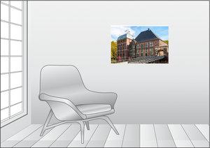 Premium Textil-Leinwand 75 cm x 50 cm quer Schloss Horst im glei