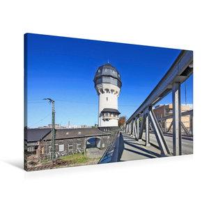Premium Textil-Leinwand 90 cm x 60 cm quer Wasserturm Darmstadt