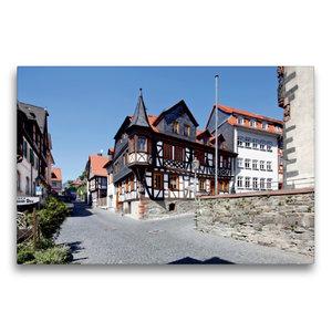 Premium Textil-Leinwand 75 cm x 50 cm quer Altstadt