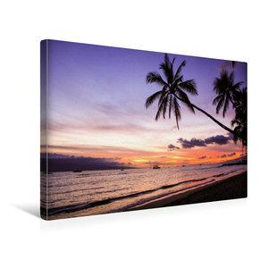Premium Textil-Leinwand 45 cm x 30 cm quer Puamana Beach