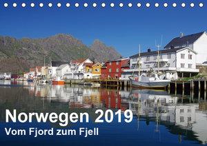 Norwegen 2019 - vom Fjord zum Fjell (Tischkalender 2019 DIN A5 q