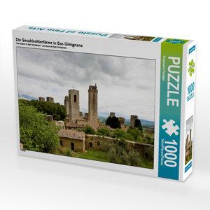 Die Geschlechtertürme in San Gimignano 1000 Teile Puzzle quer