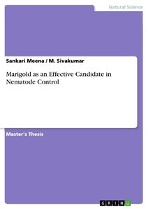 Marigold as an Effective Candidate in Nematode Control
