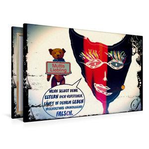 Premium Textil-Leinwand 120 cm x 80 cm quer Muttis Liebling